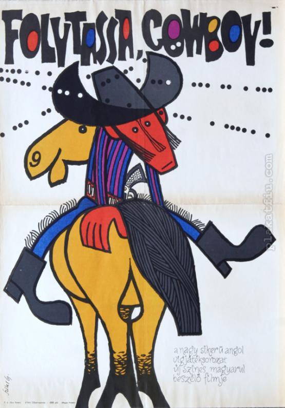 Folytassa cowboy filmplakát