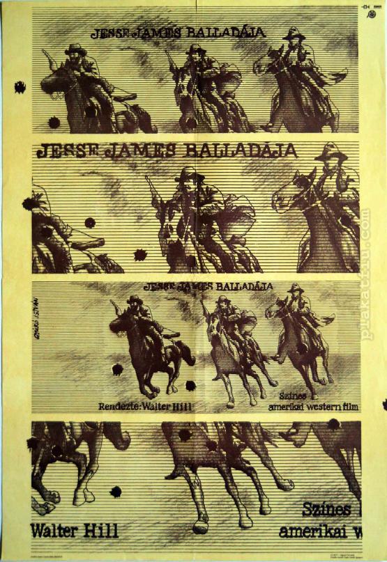 Jesse James balladája filmplakát