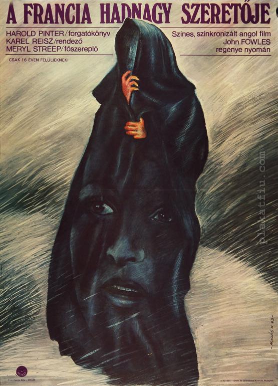 A francia hadnagy szeretője filmplakát