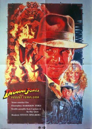 Indiana Jones és a végzet temploma filmplakát