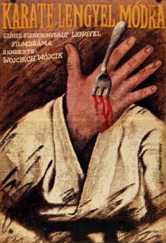Karate lengyel módra filmplakát