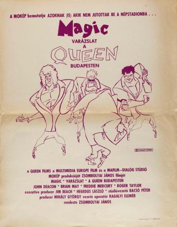 A Queen Budapesten filmplakát
