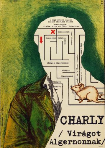 Charly Virágot Algernonnak filmplakát